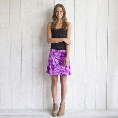 Purple Tie-Dye Short Skirt