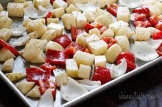 Roasted Potatoes, Chicken Sausage and Peppers | Skinnytaste