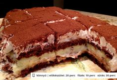 Gesztenyés-vaníliapudingos habszeletke Hungarian Desserts, Hungarian Recipes, Hungarian Food, Poppy Cake, Sweet Cookies, Christmas Desserts, Popsicles, My Recipes, Tiramisu