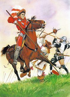 "German Peasants' War   Free lancer, Swabian League • Peasant, Donauwörth Band • Mercenary, northern Swiss cantons"", Angus McBride"