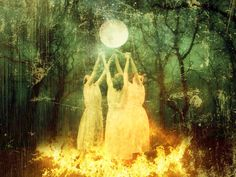 Mystical, mythological art of the Goddess and the Divine Feminine by Lisbeth Cheever-Gessaman Four Archangels, Arte Latina, Ritual Magic, Hidden Images, Classical Elements, Sacred Feminine, Magic Art, Winter Solstice, Yule