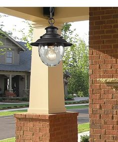 Searsport 1-Light Outdoor Hanging Weathered Charcoal - LampsUSA