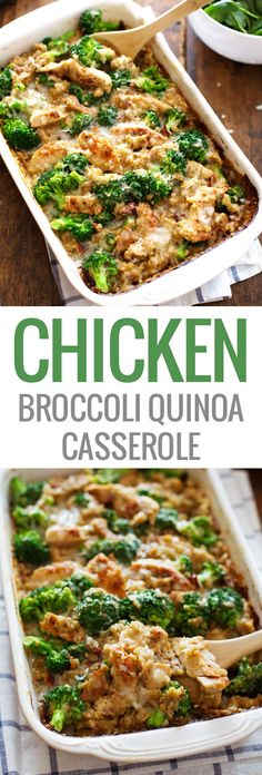 Creamy Chicken Quinoa and Broccoli Casserole - real food meets comfort food. From scratch, quick and easy, 350 calories. | pinchofyum.com Chicken Quinoa Recipes, Heathy Food Recipes, Quinoa Dinner Recipes, Healthy Casserole Recipes, Wuinoa Recipes, Chicken Quinoa Soup, Healthy Cassarole, Healthy Recipes With Quinoa, Healthy Recepies