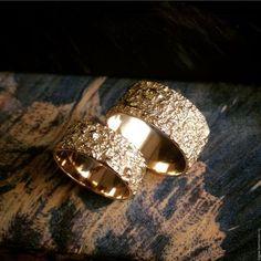 Кольца ручной работы. Заказать кольцо из золота. Авторское кольцо. Необычное кольцо. BigJoe. Ярмарка Мастеров. Брызги, золото 585 пробы