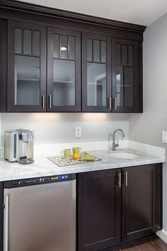 The remodeling project includes a mini bar with CliqStudios' shaker-style furniture …. – Style Of Coffee Bar In Kitchen Kitchen Cupboard Designs, Kitchen Layout, Kitchen Design, Kitchen Ideas, White Shaker Cabinets, Glass Cabinets, Bathroom Cabinets, Shaker Style Furniture, Coffee Bars In Kitchen