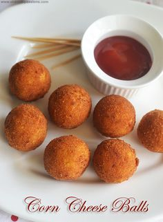 BRIYANI -- Visit the image link for more details. Corn Nuggets Recipe, Cheese Corn Balls Recipe, Cheese Ball Recipes, Appetizer Recipes, Veg Starter Recipes, Veg Recipes, Snack Recipes, Cooking Recipes, Sweet Corn Recipes