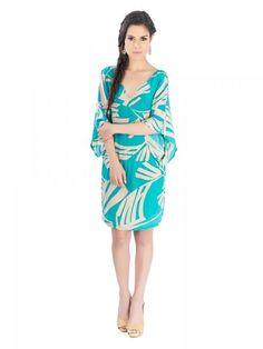 Vestido corto de seda de Karina Grimaldi