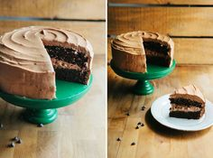 Hummingbird High - A Desserts and Baking Food Blog in San Francisco: One Bowl Chocolate Cake with Mocha Buttercream Frosting
