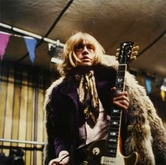 Brian with Les Paul gold top with P90s at the Rock and Roll Circus