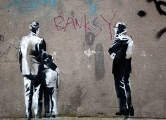 Bansky graffiti- provoking