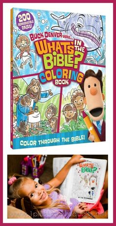 What's in the Bible Coloring Book and DVDs ~ a simple, no-prep homeschool Bible curriculum