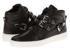 MICHAEL Michael Kors Robin High Top Sneaker Black Vachetta - Zappos.com Free Shipping BOTH Ways