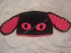 Evil Bunny Beanie Hat Crochet Pattern free hat crochet pattern from cRAfterChick.com