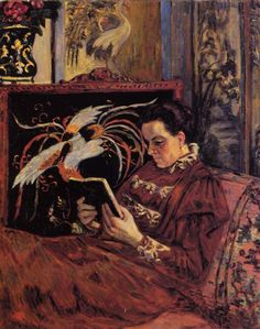 Portrait of Madame Guillaumin 1898 - Armand Guillaumin - (French: Monet, Georges Seurat, Reading Art, Woman Reading, Reading Time, Reading Room, Camille Pissarro, Paul Cézanne, Renoir