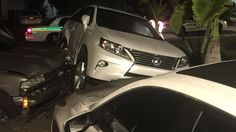 Driver Crashes Into Cars Parked In Front Of Cop's Home ~ Bruck Tischler brilliantly defend vs. Traffic Law ~ http://www.brucktischler.com/ ~ #BestLawyerinMiami #DustinTischler #YehudaBruck #CriminalDefense #DefenseLaw #BruckTischler #Miami #MiamiDadeCounty #Florida #SouthFlorida #right2counsel