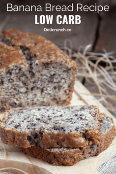 The Best Low Carb Banana Bread Recipe (Keto-Friendly) This banana bread recipe is the best keto bread recipe. If you are looking for an easy and healthy keto bread recipe, you should never miss this low carb banana bread or almond flour banana bread. Easy Low Carb Bread Recipe, Best Low Carb Bread, Lowest Carb Bread Recipe, Easy Bread Recipes, Banana Bread Recipes, Banana Bread Healthy Clean Eating, Clean Banana Bread, Banana Bread Low Carb, Flour Recipes