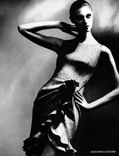 Day dress photographed by Lillian Bassman in the 1950's