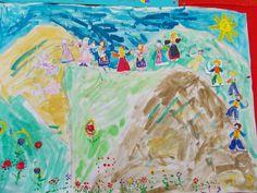 1ο Νηπιαγωγείο Ωραιοκάστρου: 25η Μαρτίου Blog, Painting, Maths, Art, Art Background, Painting Art, Kunst, Blogging, Paintings
