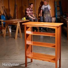 Craftsman-style furniture designs are still popular today, and with modern tools you can build a bookcase like this classic from the Stickley catalog in a w