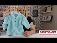 Knitted Baby Cardigan, Knitted Baby Clothes, Baby Knitting Patterns, Hand Knitting, Crochet Baby, Knit Crochet, Knitting Videos, Knit Dress, Pullover