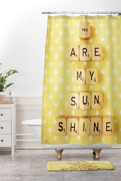YOU ARE MY SUNSHINE Shower Curtain | Sunshine, Support Small Business And  Products