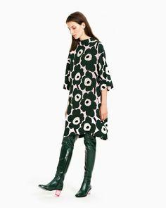 Mekot netistä   Juhlamekot ja printtimekot - Marimekko.com Marimekko Dress, Simple Wardrobe, Business Outfits, Dress Skirt, Tunic Tops, Celebs, Street Style, Blouse, My Style