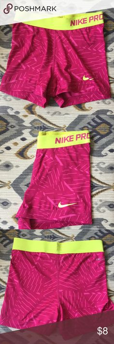 Nike Pro spandex Great condition, I wore these pants during track season. Nike pros and so they are tight and have a elastic material. Dri-fit Nike Pants Track Pants & Joggers