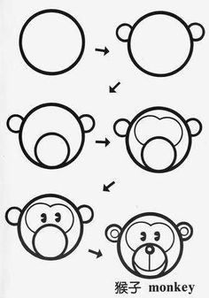 Drawing for kids Doodle Drawings, Cartoon Drawings, Animal Drawings, Cute Drawings, Doodle Art, Drawing Lessons, Drawing Tips, Art Lessons, Easy Drawings For Kids