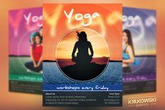 Yoga Workshops Flyer Template by Krukowski Graphics on @creativemarket