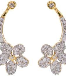 Buy Gold Brass Jhumki Earrings for Women ear-cuff online