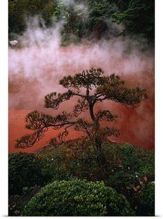✯ Chinoike Jigoku - Blood Pond Hell - Beppu, Kyushu Island, Japan