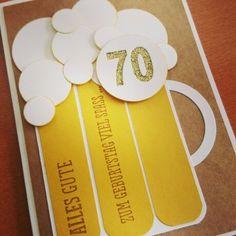 Bier-Karte für einen runden Männer-Geburtstag mit Stampin Up