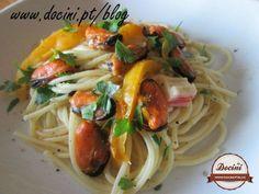 Receita Esparguete com mexilhões e pimentos, de Docini - Petitchef