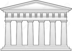 This is an outline of the Parthenon, a Doric Temple. This can be downloaded from http://www.123rf.com/photo_5226391_greek-temple-doric-order.html There are many other free resources here.