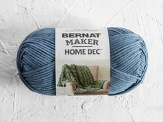 The projects you make deserve soft, beautiful fiber — and that's where Bernat Maker Home Dec Yarn comes in! This bulky-weight yarn works up quickly and the bold colors help you add a handmade touch to any room. Grab this versatile cotton/nylon blend to bring your next blanket, pillow, floor pouf or basket to life.