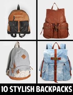 It's hard to find stylish backpacks for teenagers. Check out these 10 Stylish Backpacks for this School Year!