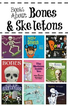 Books About Bones and Skeletons~Read about bones and what they do with these fun books for kids. #halloween #kidlit #skeletons #preschool #kindergarten #earlyliteracy