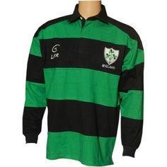Irish Rugby Shirt - Shamrock Crest at Celtic Clothing Company