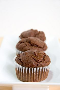 Healthy, whole-grain vegan muffins that taste just like rich chocolate brownies!