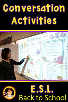 Esl Lessons, Back To School Activities, High School Students, Dice, Worksheets, Conversation, Bubble, Target, Middle