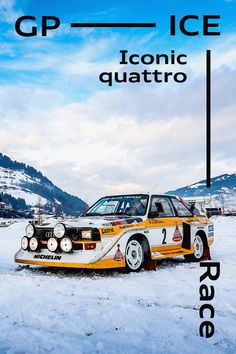 An icy display. A historic car that connects the past, the present and the future of motorsport. Future Car, Car Photography, Winter Sports, My Passion, Old Cars, Audi Rs4, Classic Cars, The Past, Racing