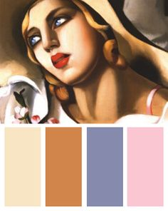Portrait Fille Art Deco Color Palette