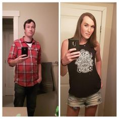 28 MtF to 19 months hrt. I think I like the second pic a lot more! Transgender Transformation, Male To Female Transformation, Male To Female Transition, Mtf Transition, Male To Female Transgender, Transgender People, Transgender Before And After, Mtf Hrt, Female Hormones