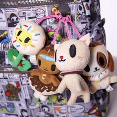 Hang them from your bag!  #tokidoki #donutella