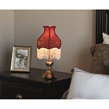 Downton Abbey Red & Gold Fringe Accent Lamp - shopPBS.org    On my shopping list!