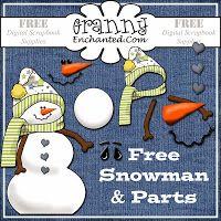 Free Snowman pieces