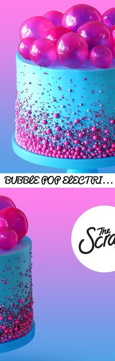 BUBBLE POP ELECTRIC CAKE- The Scran Line... Tags: cupcakes, how to make vanilla cupcakes, over the top recipes, easy cupcake recipes, vanilla cupcakes, chocolate cupcakes, french macarons, how to make macarons, the scran line, the scranline, nick makrides, pastry design, how to pipe cupcakes, how to pipe cupcakes
