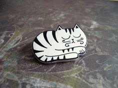 "Broche de cerámica ""Gato Dormilón"""