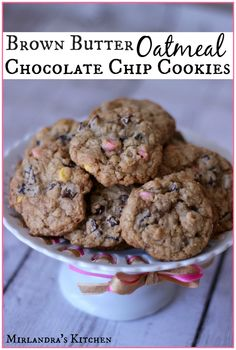 These Brown Butter Oatmeal Chocolate Chip Cookies are moist and chewy with a delicious nutty flavor. I included easy instructions for making brown butter if it is a new skill.  You can use Easter themed chips or M&Ms or regular chocolate chips depending on the occasion.   Bottom line - these oatmeal cookies rock!