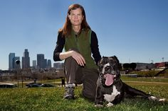 One of the bravest, on the frontline dog rescue founders in the US. Lori Weise, Downtown Dog Rescue, Los Angeles